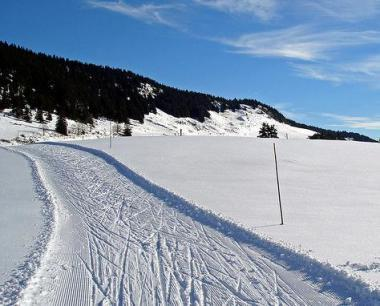 Saalbach a jedna z běžkařských stop