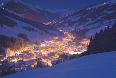 Saalbach - Hinterglemm v noci