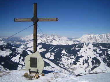 Rakouský Saalbach Hinterglemm s vrcholkem Westgipfel